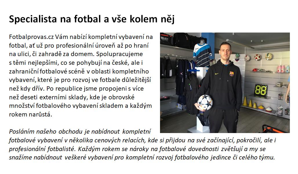 Fotbal pro vás – Vybavení pro fotbalové hráče ad78d59f2c